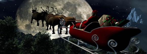 décollage du père Noël-photo de couverture journal facebook