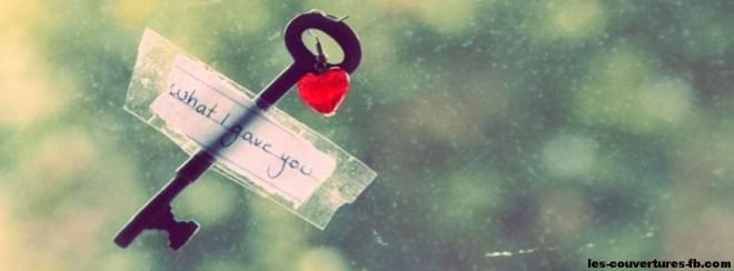 La clé de mon coeur-Photo de couverture journal Facebook