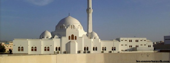 mosquée blanche - Photo de couverture journal Facebook