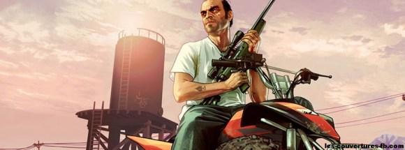GTA 5 Trevor armé sur son quad