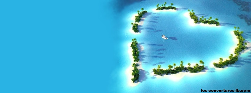 Une île en forme de coeur - Couverture Facebook