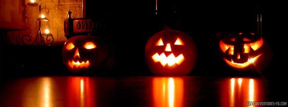 couverture facebook halloween citrouilles effrayantes