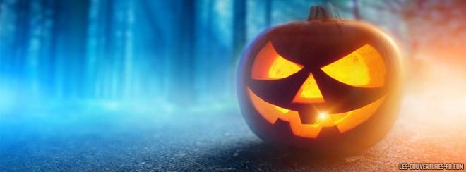 couverture facebook halloween citrouilles seule dans les bois