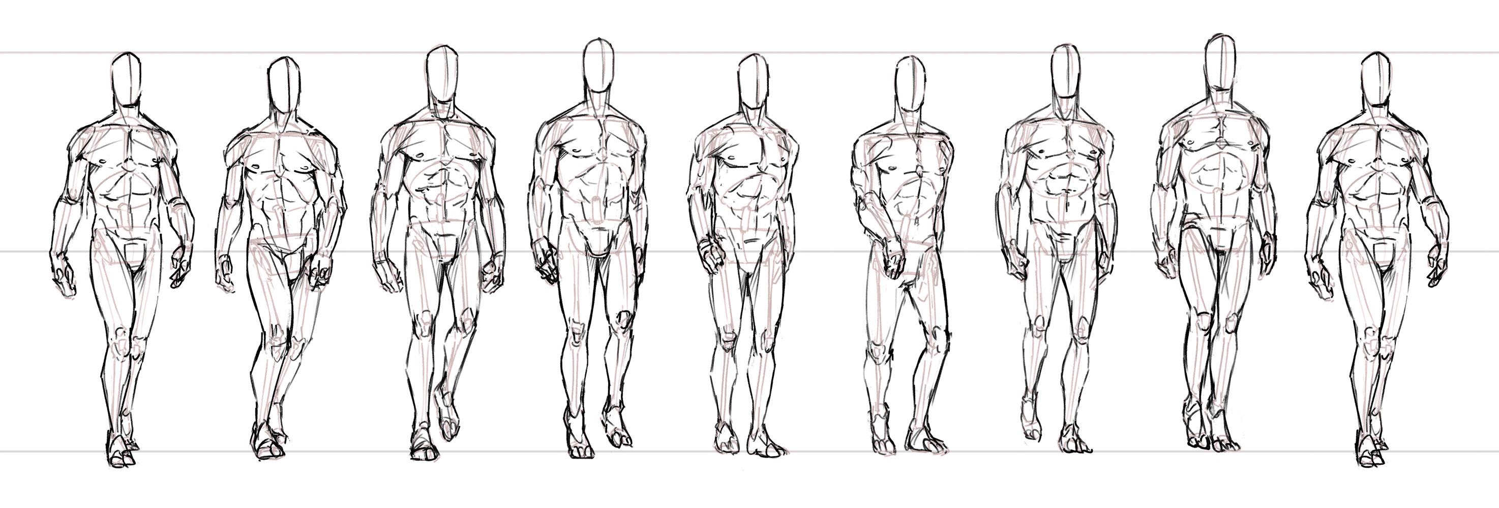 Comment dessiner un personnage en train de marcher - Comment dessiner un train ...
