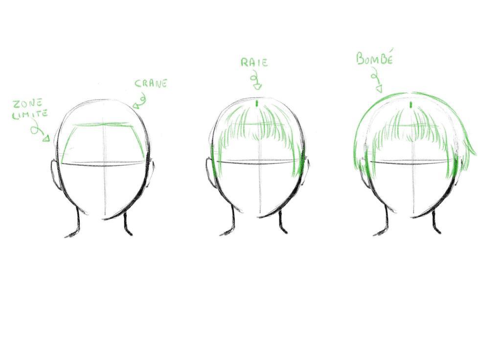 Dessiner des cheveux courts tuto 2