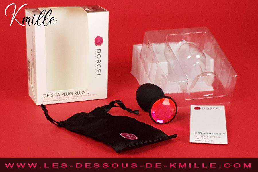 Kmille teste le plug anal Geisha Plug taille L, de Dorcel.