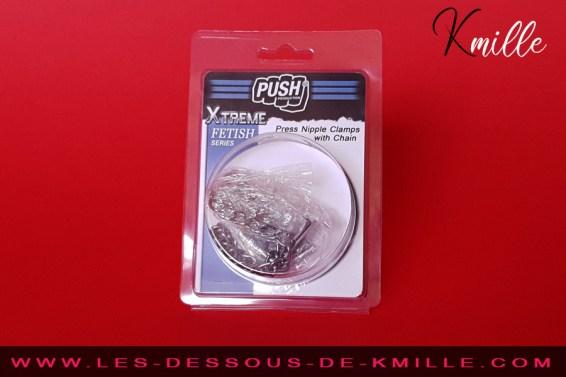 Kmille teste les étaux à tétons à vis Xtreme Fetish, de Push Production.