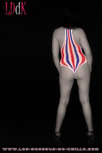 Les présentations de Kmille – Le body Leg Avenue aux couleurs de l'équipe de France