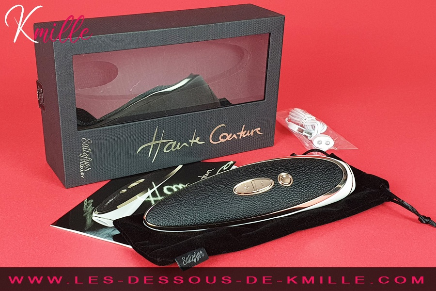 Kmille teste stimulateur clitoridien sans contact le Satisfyer Luxury Haute Couture.