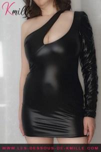 La robe asymétrique F199 de Noir Handmade