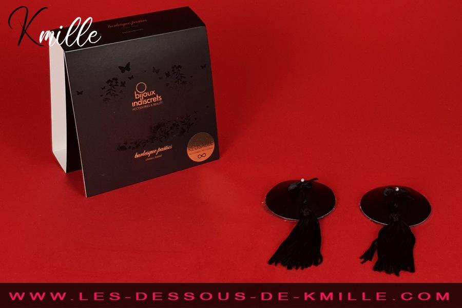 Kmille présente les caches-tétons Burlesque Classique, de Bijoux Indiscrets.