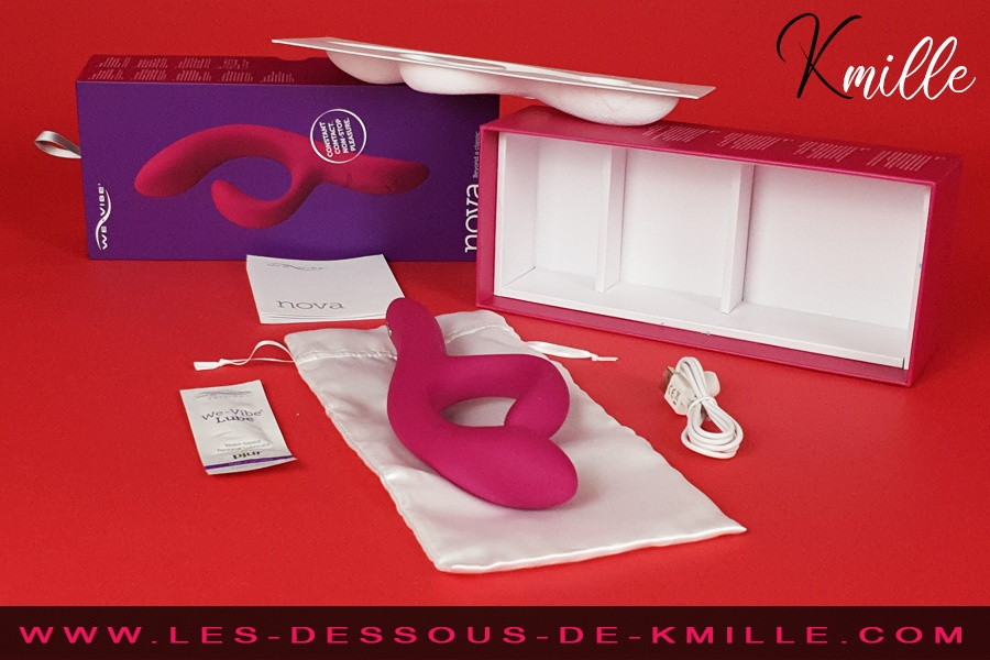 Kmille teste le vibromasseur rabbit connecté Nova 2, de We-Vibe.
