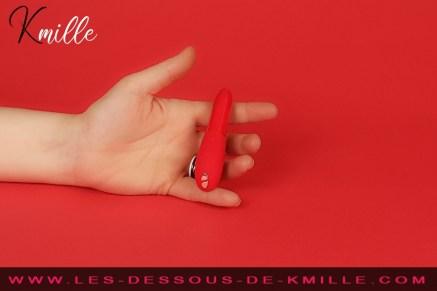 Kmille teste le vibromasseur bullet We-Vibe Tango X.