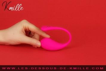 Kmille teste l'oeuf vibrant connecté Lush 3, de la marque Lovense.