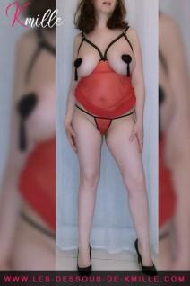 Kmille présente la nuisette seins nus Tentatrice, de la marque Luxure de Dorcel.