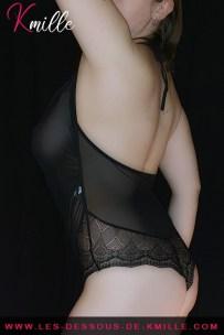 Présentation d'un body en tulle et dentelle, de la marque Sensual Lingerie.