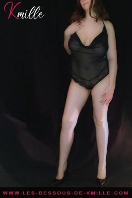 Kmille présente le body décolleté drapé Enjoy, de Sensual Lingerie.