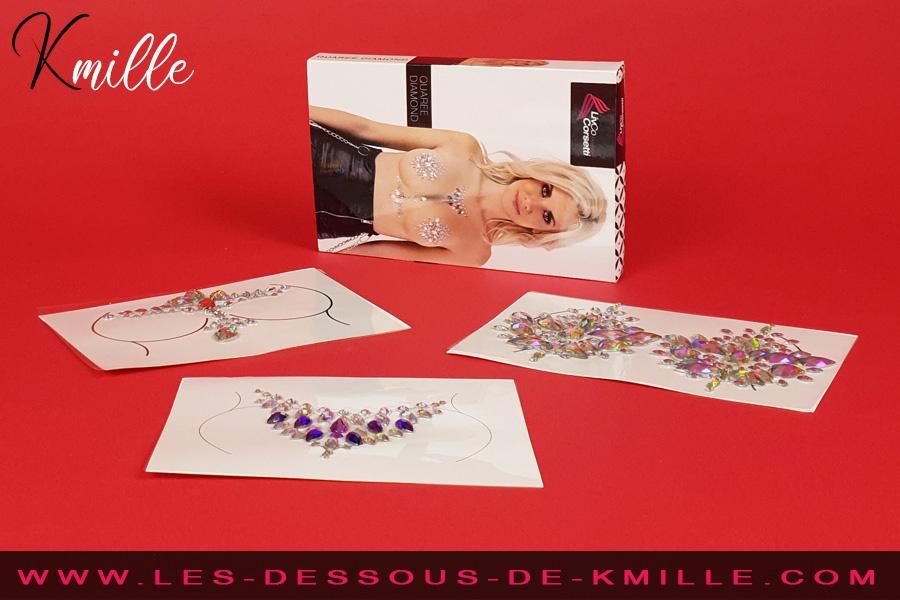 Kmille présente les bijoux de buste Quaree Diamond, de Livco Corsetti.