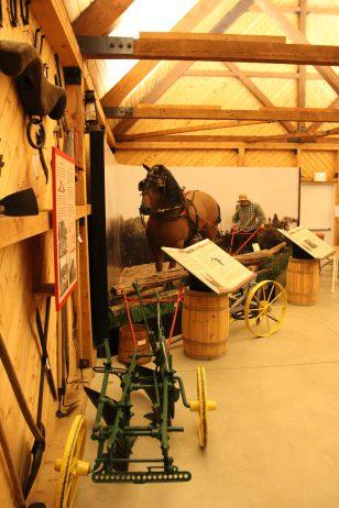 Un cheval et des machins. Seuls les outils sont vrais.