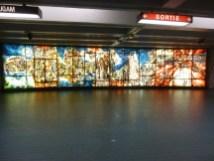 Fresque dans le réseau souterrain de Montréal