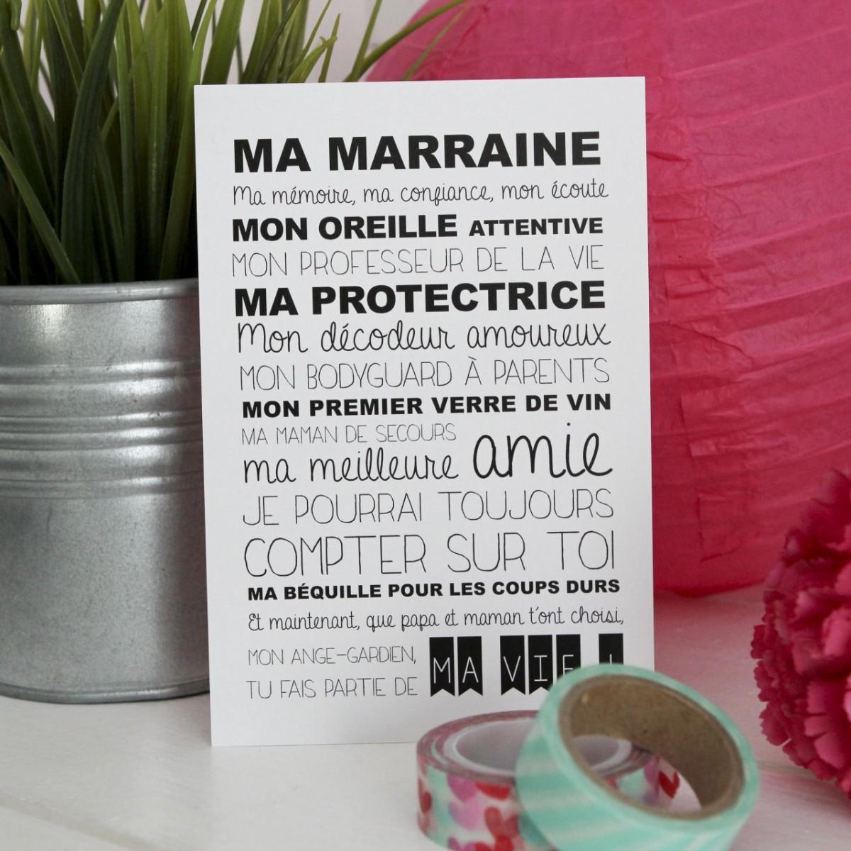 Carte Postale Ma Marraine Les Ptites Fes
