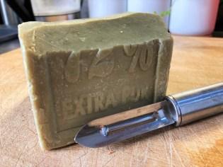 bloc de savon de marseille véritable
