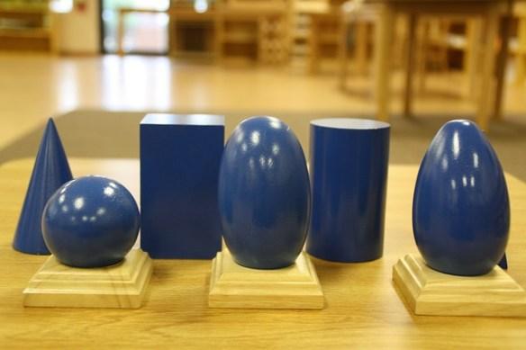 solides géométriques Montessori
