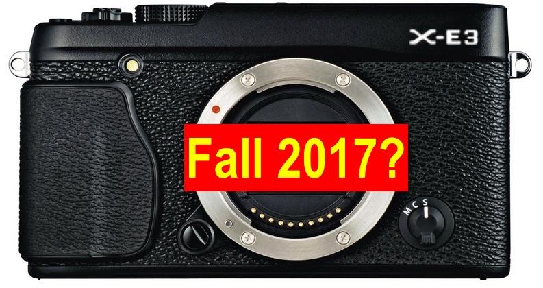 Fujifilm X-E3 sortira à l'automne 2017