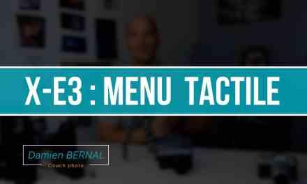 Fujifilm X-E3 : fonction tactile (Ex D-Pad)