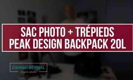 Sac photo + trépieds (Peak design backpack 20L)