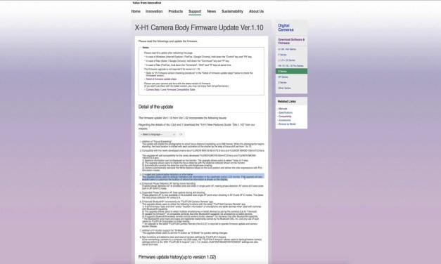 X-T2 & X-H1 : Firmware 4.1 & 1.10 – Présentation détaillée