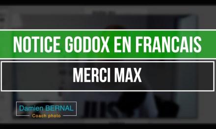 Manuel utilisateur GODOX en Francais
