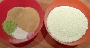 ingrédients kit n°3 pour panna cotta au thé matcha