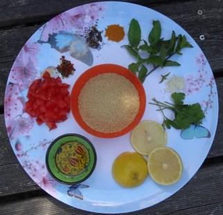 ingrédients taboulé à la menthe et au citron