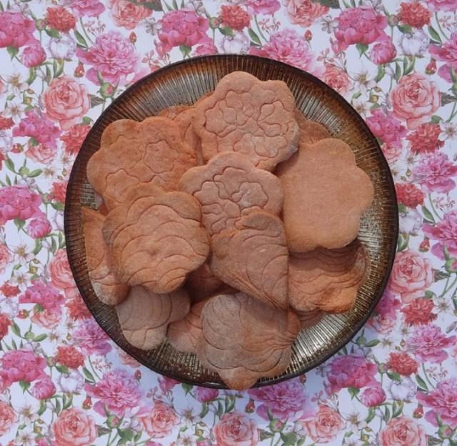 croquants aux biscuits roses de Reims