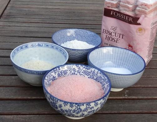 ingrédients Kit Futé Gourmand pour croquants aux biscuits roses de Reims