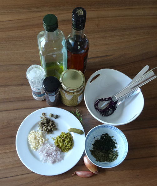 ingrédients de la sauce ravigote