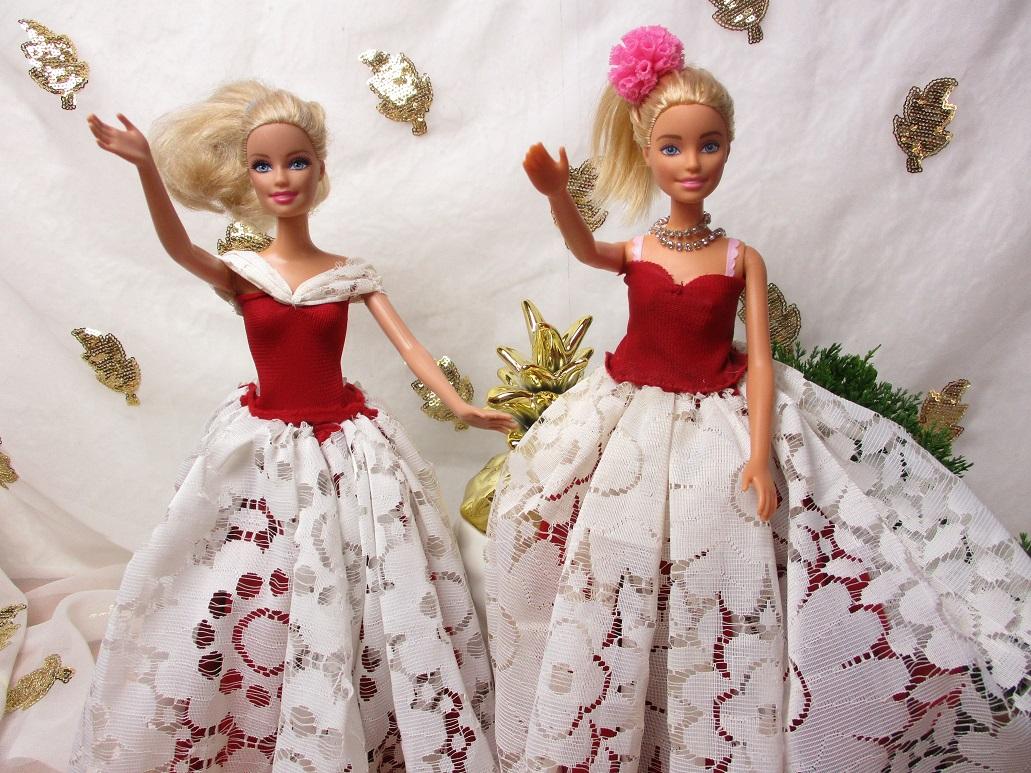 une robe de princesse pour Barbie en pas à pas