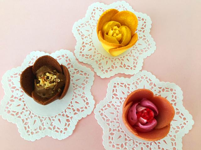 トーキョーチューリップローズ,ピンクと黄色と茶色のチューリップローズ,TOKYO TULIP ROSE,