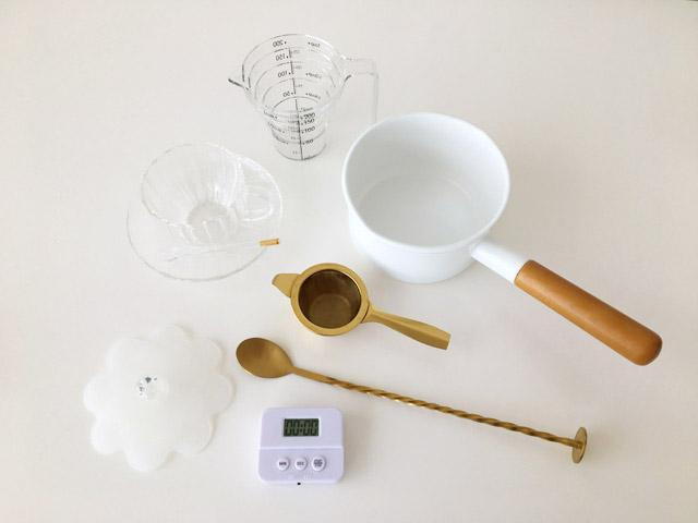 クスミティーのカシミールチャイを作る時に使う道具,KUSMI TEA,KASHMIR TCHAÏ,