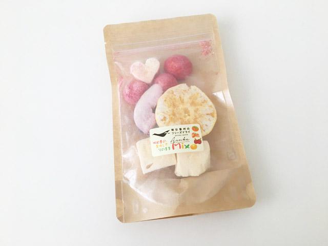 奈良県明日香村のフリーズドライした乾燥果物,
