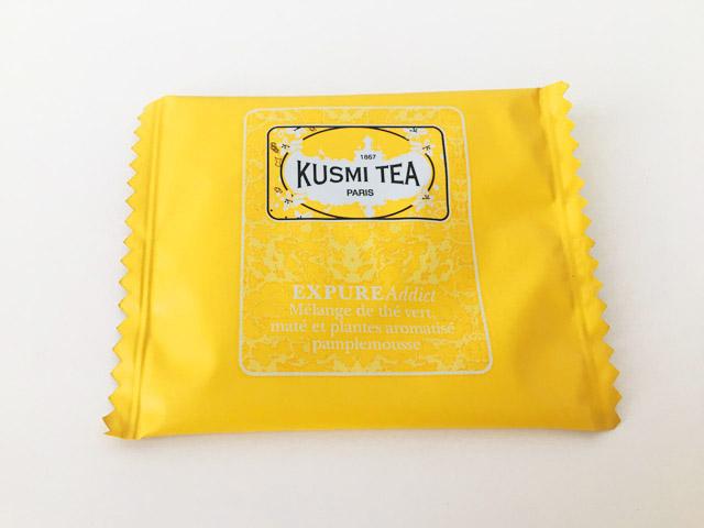 クスミティー,エクスピュア アディクト,黄色のティーバッグのパッケージ,KUSMI TEA,EXPURE ADDICT,BB DETOX,