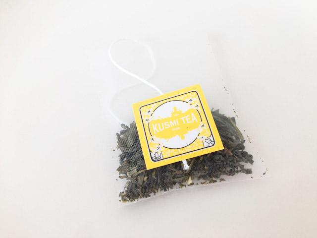 クスミティーのジャスミン グリーン ティのティーバッグと個包装,KUSMI TEA,Jasmine green tea,