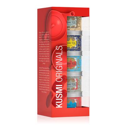 クスミティー,ロシアン ブレンド,ミニチュアギフトセット,25g×5缶,KUSMI TEA,RUSSIAN BLENDS GIFT SET WITH INFUSER,
