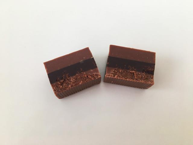 グイド・ゴビーノ,チョコレートが3層になっているクレミーノ,フォンデンテ,GUIDO GOBINO,Dark Chocolate Cremino,