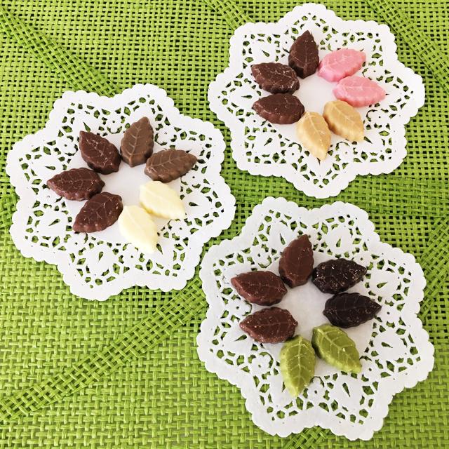 モンロワール,リーフメモリーギフトボックス,9種類の葉っぱのチョコ,