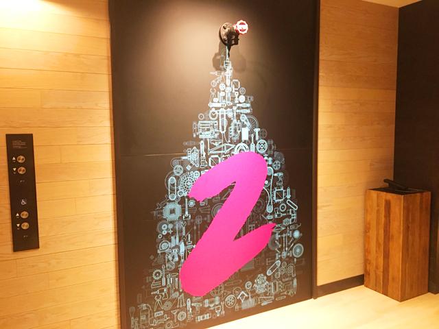 モクシー大阪新梅田,2Fのエレベーターホール,Moxy Osaka Shin Umeda,