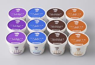 安比高原牧場,4種アイスクリームセット