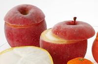 ナポリアイスクリーム,フルーツシャーベット,ふじりんご,