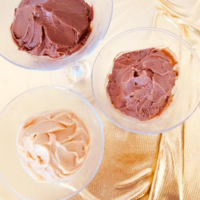 ヴィタメール,3種類のアイス,